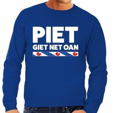 Blauwe trui / sweater friesland piet giet net oan heren