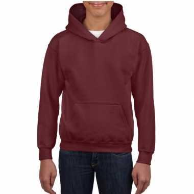 Bordeaux capuchon sweater jongens