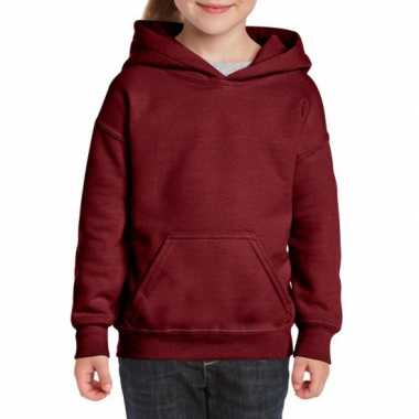 Bordeaux capuchon sweater meisjes