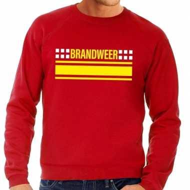 Brandweer logo sweater rood heren