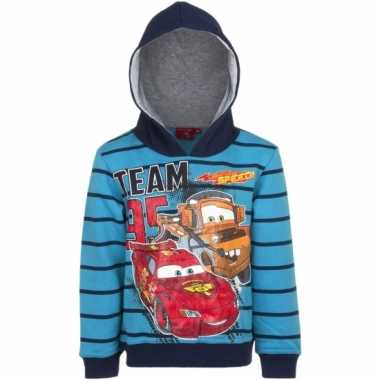 Cars capuchon sweater blauw jongens