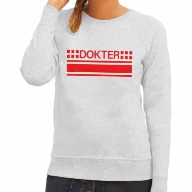 Dokter logo sweater grijs dames