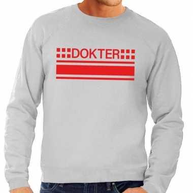 Dokter logo sweater grijs heren