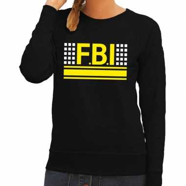 Fbi logo sweater zwart dames