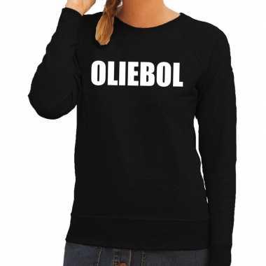 Foute jaarwisseling trui / sweater oliebol zwart dames