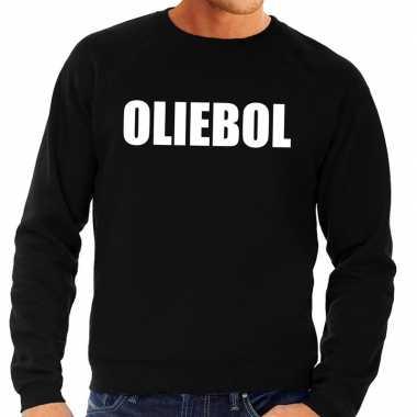 Foute jaarwisseling trui / sweater oliebol zwart heren