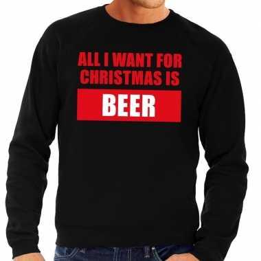 Foute kersttrui christmas beer zwart heren