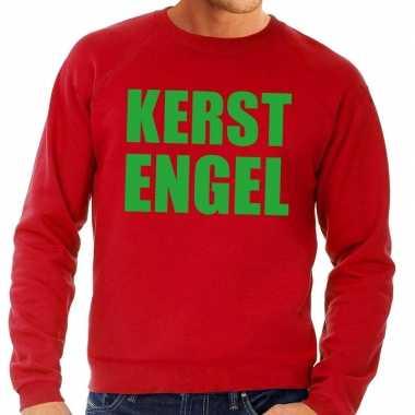 Foute kersttrui kerst engel rood heren