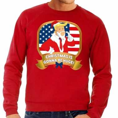 Foute kersttrui rood christmas is gonne be huge heren