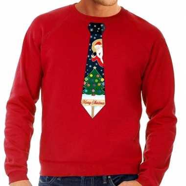 Foute Kersttrui Kopen Goedkoop.Foute Kersttrui Stropdas Kerst Rood Heren Goedkope Sweaters Nl