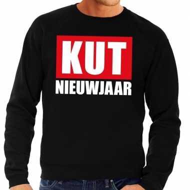 Foute oud nieuw trui / sweater kut nieuwjaar zwart heren