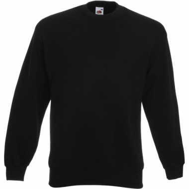 Fruit of the Loom sweater zwart