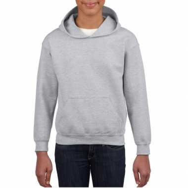 Grijze capuchon sweater jongens