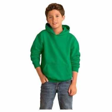 Groene capuchon sweater jongens