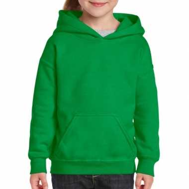 Groene capuchon sweater meisjes