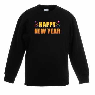 Happy new year sweater/ trui zwart kinderen