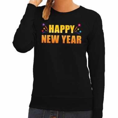 Happy new year trui/ sweater zwart dames