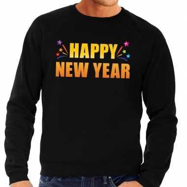 Happy new year trui/ sweater zwart heren