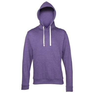 Hooded sweater paars heren