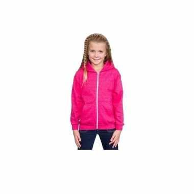 Hooded sweater roze meisjes