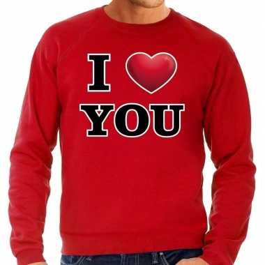 I love you valentijn sweater rood heren