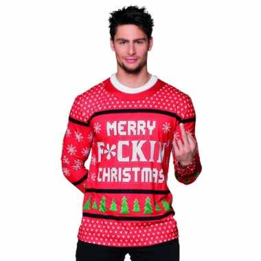 Kerst shirt kerst teksttrui opdruk heren