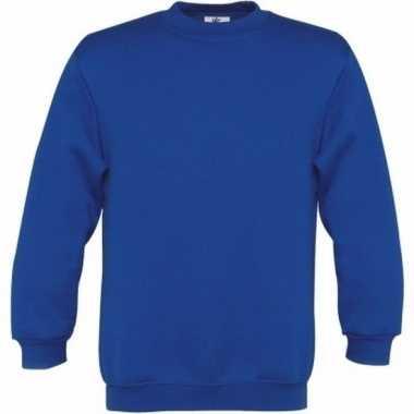 Kobaltblauwe katoenmix sweater meisjes