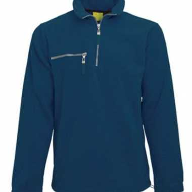 Navy fleece trui volwassenen