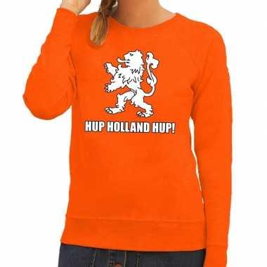 Nederland supporter sweater hup holland hup oranje dames