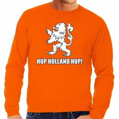 Nederland supporter sweater hup holland hup oranje heren