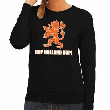 Nederland supporter sweater hup holland hup zwart dames