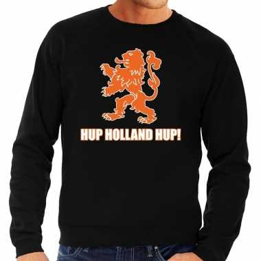 Nederland supporter sweater hup holland hup zwart heren