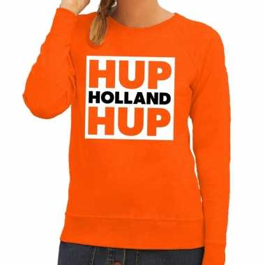 Nederlands elftal supporter sweater hup holland hup oranje