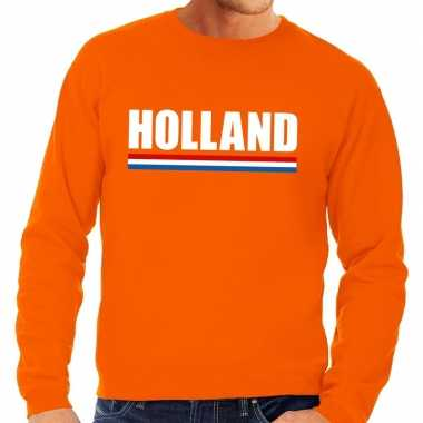 Oranje holland supporter sweater volwassenen