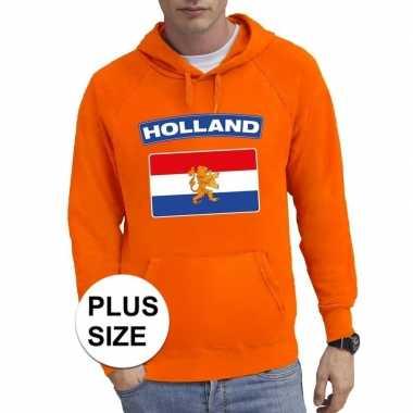 Oranje holland supporter grote maten sweater trui heren