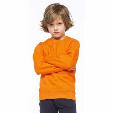 Oranje katoenmix sweater kinderen