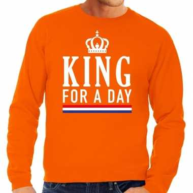 Oranje king for a day sweater heren