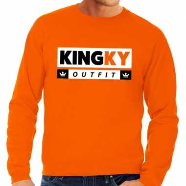 Oranje kingky outfit sweater heren