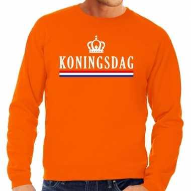 Oranje koningsdag sweater heren
