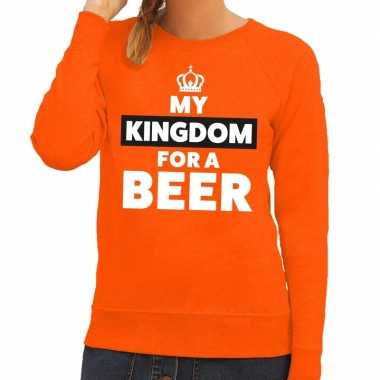 Oranje my kingdom for a beer sweater dames
