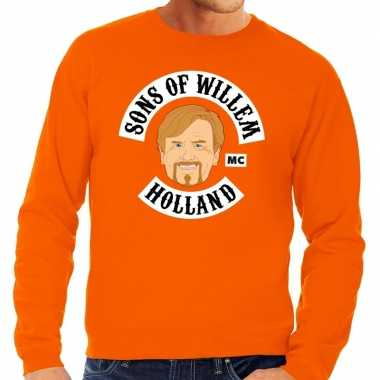 Oranje sons of willem sweater heren
