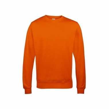 Oranje sweater heren Just Hoods