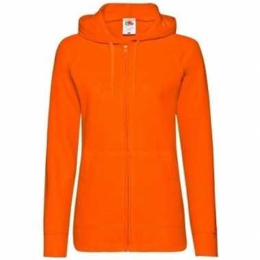 Trui Met Capuchon Dames.Oranje Vest Capuchon Dames Goedkope Sweaters Nl