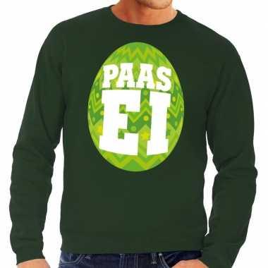 Paas sweater groen groen ei heren