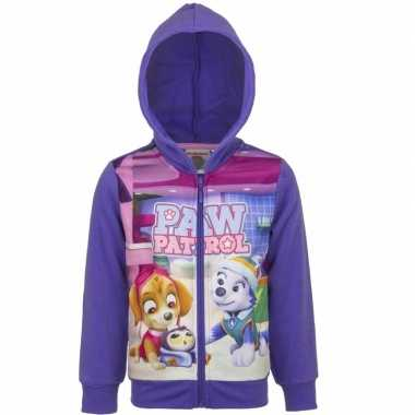 Paw patrol sweater rits paars