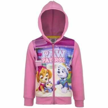 Paw patrol sweater rits roze