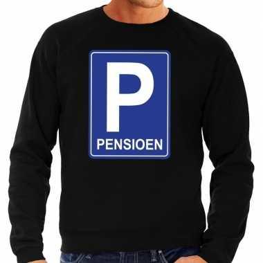 Pensioen p cadeau sweater zwart heren