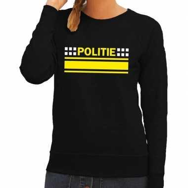 Politie logo sweater zwart dames
