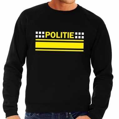 Politie logo sweater zwart heren