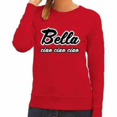 Rode bella ciao sweater dames